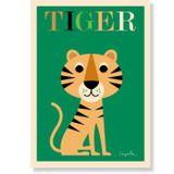Kinderposter  Tiger , 50 x 70 cm, Ingela P. Arrhenius für OMM Design