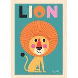 Kinderposter  Lion , 50 x 70 cm, Ingela P. Arrhenius für OMM Design