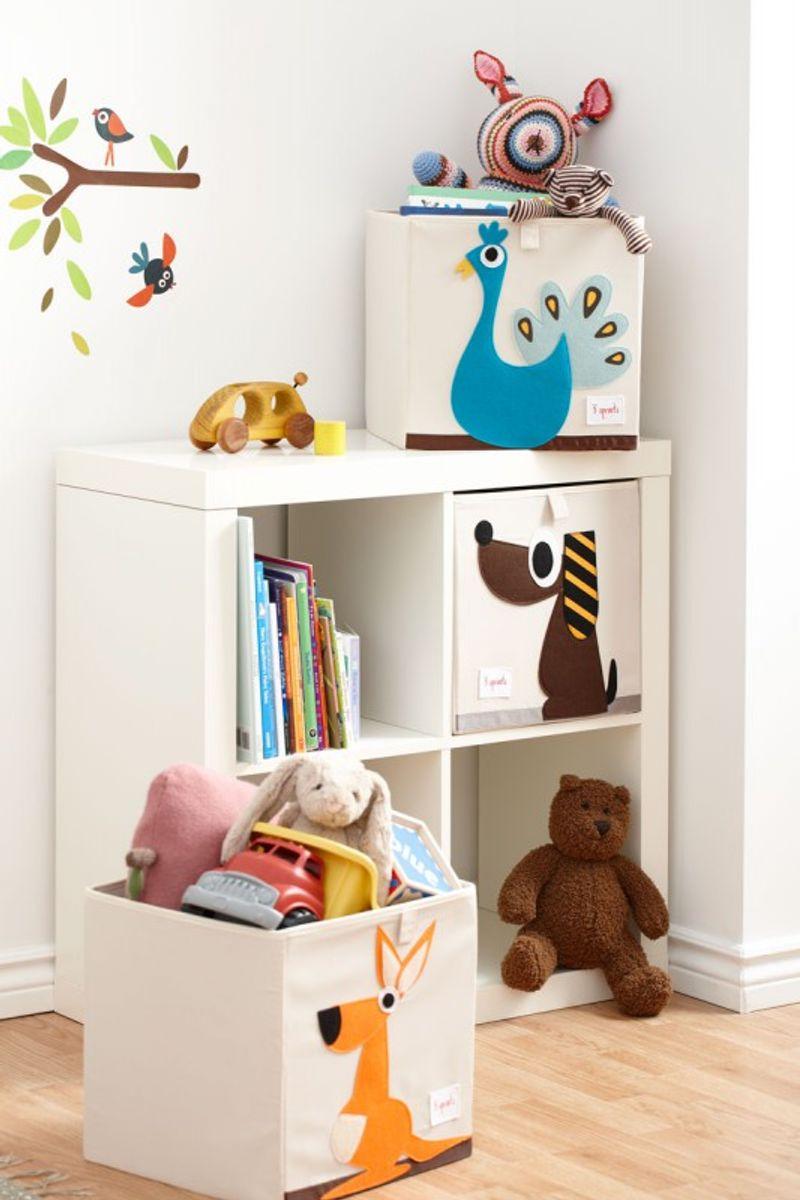 Spielzeugbox pfau von 3 sprouts hier entdecken - Aufbewahrung kinderzimmer ikea ...