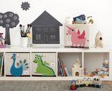 Aufbewahrung im Kinderzimmer | Spielzeugbox grüner Drache, 33 x 33x 33 cm, von 3 sprouts