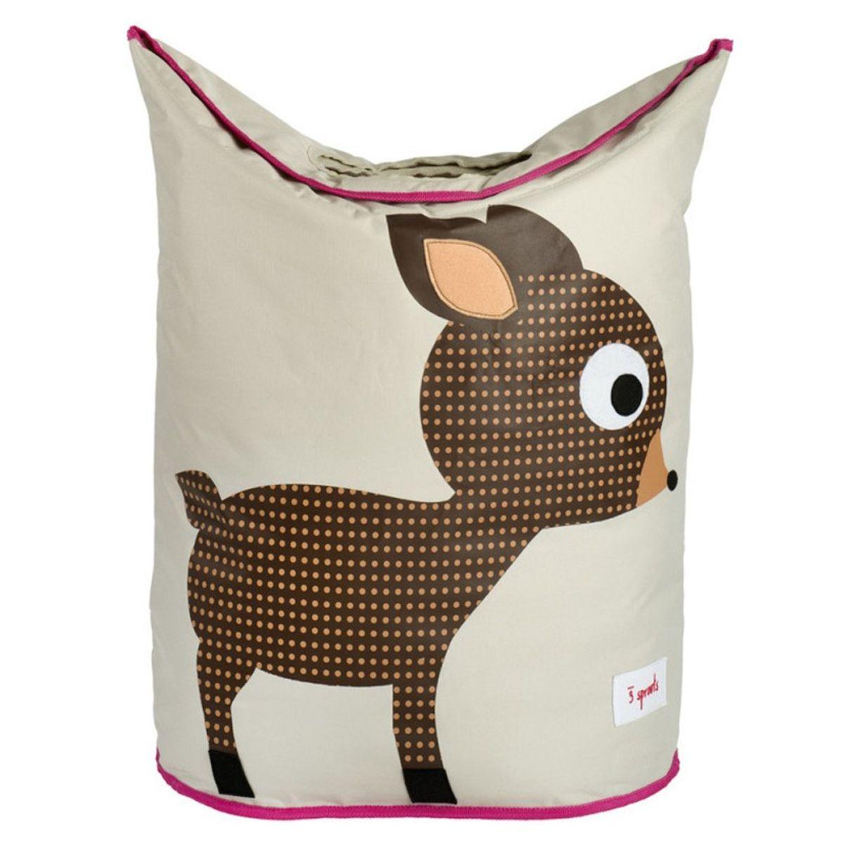 Aufbewahrung im Kinderzimmer | Wäschekorb Reh, von 3 sprouts, 48 x 56 x 28  cm | Kindersachen | Babysachen