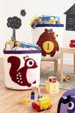 Aufbewahrung im Kinderzimmer | Grosser Aufbewahrungskorb Fuchs, 43 x 43,5 cm, von 3 sprouts
