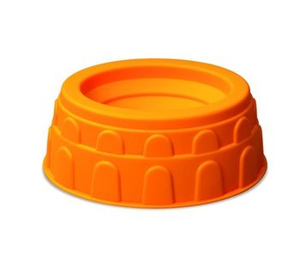 Sandspielzeug Sandförmchen Kolosseum, sehr robuster Kunststoff, orange, von Hape
