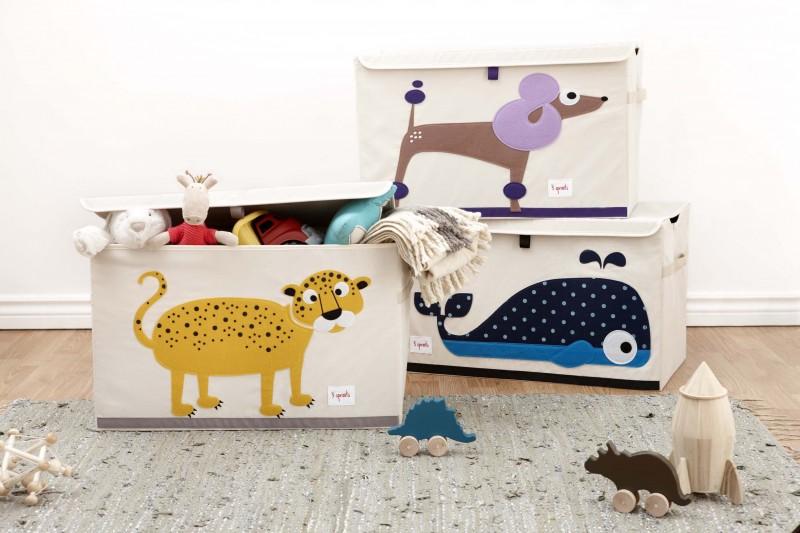 XL Aufbewahrungskiste Fürs Kinderzimmer, Leopard, 38 X 61x 37 Cm, Von 3  Sprouts