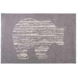 Niedlicher Kinderteppich Bär Nono, grau, 100% Polypropylen, Ökotex 100 zertifiziert, 100 x 150 cm, von Nattiot