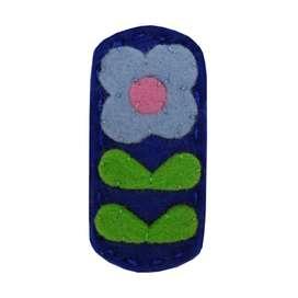 Wunderschöne Blumen Haarspange  Vintage Flora  in cobalt-blau, von giddy giddy, aus Woll-Filz, für Big Girl