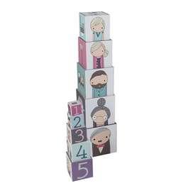 Hübsches Stapelspiel aus der Village-Serie von sebra, aus robustem Karton