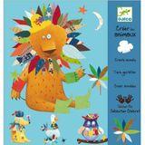 Kreativset für Kinder, Basteln mit Stickern  Tiere gestalten , ab 3 Jahren, von Djeco