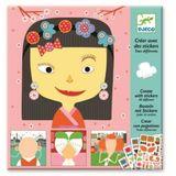 Kreativset für Kinder, Basteln mit Stickern  Jeder ist anders , ab 4 Jahren, von Djeco