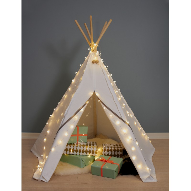 weisses indianerzelt aus stoff hippie tipi von roommate. Black Bedroom Furniture Sets. Home Design Ideas