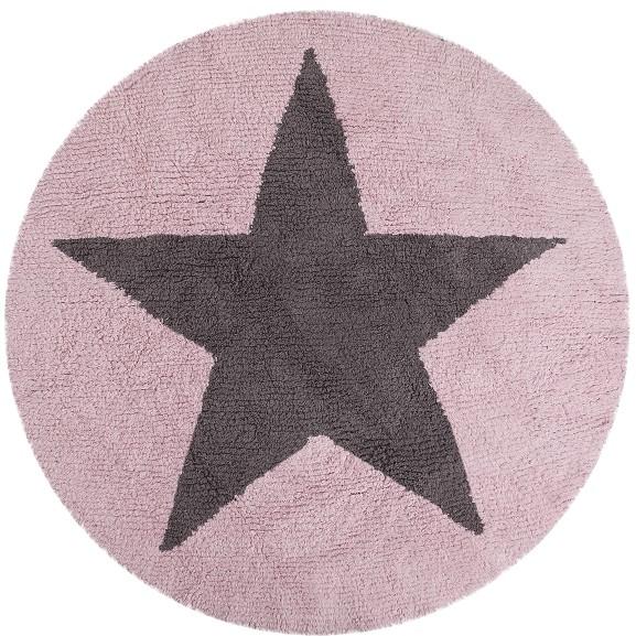 kinderteppich stern grau rosa baumwolle lorena canals. Black Bedroom Furniture Sets. Home Design Ideas