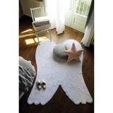 Kinderteppich Flügel, weiß, 100% Baumwolle, von Lorena Canals