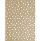 Kinderteppich mit Punkten, 120 x 160 cm, 140 x 200 cm und 200 x 300 cm, beige, Lorena Canals