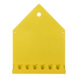 Magnettafel und gleichzeitig Garderobe,  Magnetic board Village , gelb, roommate