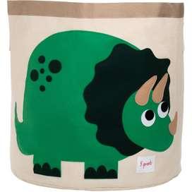 Aufbewahrung im Kinderzimmer | Grosse Spielzeugtasche Dino, 45 x 43 cm, von 3 sprouts