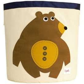 Aufbewahrung im Kinderzimmer | Grosse Spielzeugtasche Bär, 45 x 43 cm, von 3 sprouts