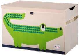 XL Aufbewahrungskiste fürs Kinderzimmer, Krokodil, 38 x 61x 37 cm, von 3 sprouts
