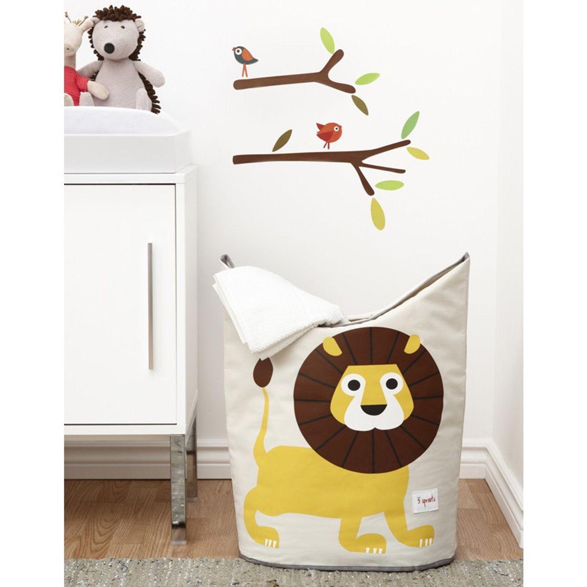 Aufbewahrung im Kinderzimmer | Löwe Wäschekorb, von 3 sprouts, 59 x 48 x 33  cm