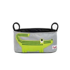 Traumhaft schöne, praktische Kinderwagentasche, Krokodil, 16 x 32 x 12 cm, von 3 sprouts