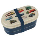 Tolle Kinder Bento Box, Lunchbox, mit Besteck, vintage transport, 9 x 8 x 17 cm, von Rex