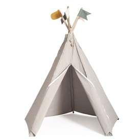 Indianerzelt Hippie Tipi aus Stoff, Stone, grau, von roommate
