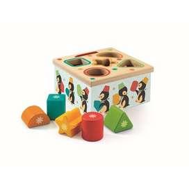 Zauberhaftes Steckspiel und Sortierspiel, Geo Junzo, aus Holz, von Djeco
