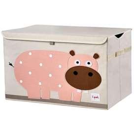 XL Aufbewahrungskiste fürs Kinderzimmer, Nilpferd Hippo, 38 x 61 x 37 cm, von 3 sprouts