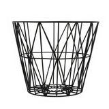 Aufbewahrungskorb, Wire Basket, Drahtkorb, medium, schwarz, 50 x 40 cm, aus Eisendraht, von Ferm Living