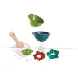 Wasserspielzeug, Kescher Set, 6 Teile, aus Holz, von Plantoys