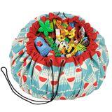 Aufbewahrung im Kinderzimmer | Aufräumsack im Badminton Design, von Play&Go