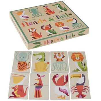 Lernspiel für Kinder, Heads and Tails,  Colourful Creatures , von Rex International