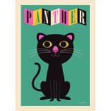 Kinderposter  The Panther , 50 x 70 cm, Ingela P. Arrhenius für OMM Design