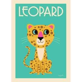 Kinderposter  The Leopard , 50 x 70 cm, Ingela P. Arrhenius für OMM Design