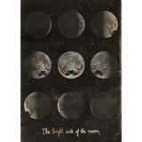 Kinderposter  The bright side of the Moon , 50 x 70 cm, Martin Krusche für OMM Design
