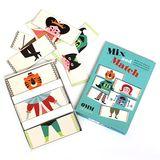 Witziges  Mix and Match  Spiel, 45 Karten, Ingela P. Arrhenius für OMM Design