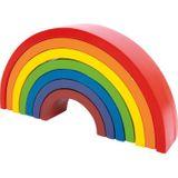 Kunterbunter Motorik Regenbogen, aus Holz, von Legler
