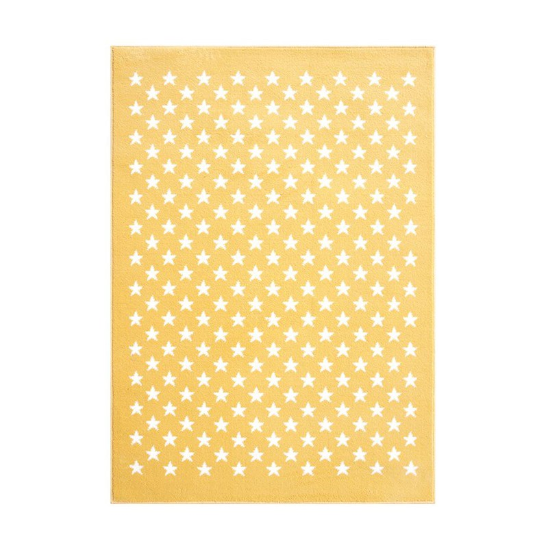 lorena canals kinderteppich mit sternen in gelb beige
