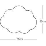 Wunderschöne Deckenlampe Wolke L, Softlight, Nahtfarbe wählbar, 65 x 85 cm, von buokids