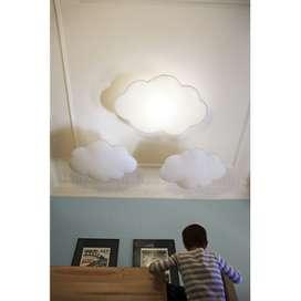 Wunderschöne Deckenlampe Wolke XL, Softlight, Nahtfarbe wählbar, 77 x 110 cm, von buokids