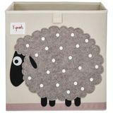 Aufbewahrung im Kinderzimmer, Spielzeugbox mit Schaf, 33 x 33x 33 cm, von 3 sprouts