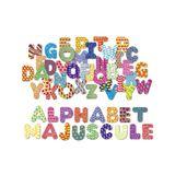 Bunte Alphabet-Magnete, 56 Stck, aus Holz, von vilac