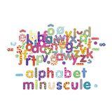 Kleine Magnetbuchstaben, aus Holz, von Vilac