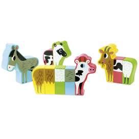 Tolles Magnetspiel Bauernhoftiere von Ingela P. Arrhenius, aus Holz, von Vilac