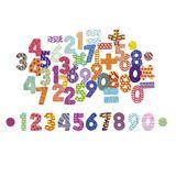 Magnetische Zahlen, 56 Sütck, aus Holz, von vilac