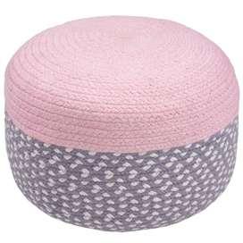 """Kindersitzkissen Pouf """"Brenda"""" in rosa, 100% Baumwolle, 20 x 35 x 35 cm, von Nattiot"""