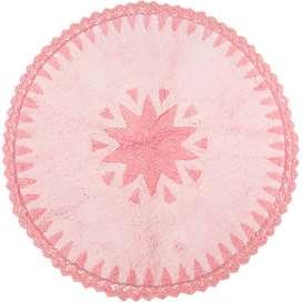 """Weicher Kinderteppich """"Warren rose"""", 100% Baumwolle, maschinenwaschbar, Durchmesser 110 cm, von Nattiot"""