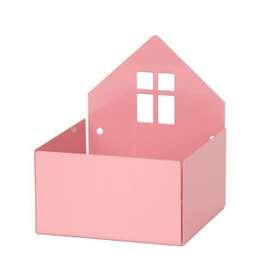 Aufbewahrung für Pixibücher,  Town Box  in Pastellrosa, aus Metall, von roommate