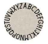 Kinderteppich rund mit Buchstaben  Round ABC , beige-schwarz, 150 cm, 100% Baumwolle, waschbar, Lorena Canals