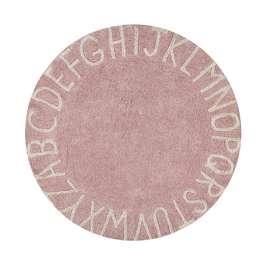 Kinderteppich rund mit Buchstaben  Round ABC , nude-natural, 150 cm, 100% Baumwolle, waschbar, Lorena Canals