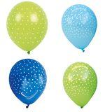 8 Luftballons, in Blautönen, mit Punktmuster von Jabadabado